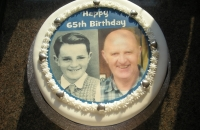 Birthday Cake with 2 Photo\'s