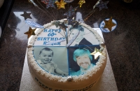 Photo Cake with wired star topper
