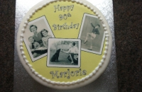 Black & white photo cake