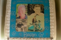 60th Birthday Cake with Various Photos