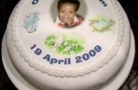 Photo Cake for Baptism