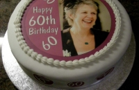 60th Birthday Cake with Photograph