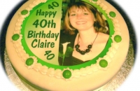 40th Birthday Cake with Photograph