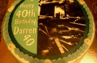 40th Birthday Cake with Photo
