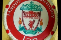 Liverpool Football Team Logo Cake
