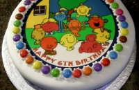 Mr Men Picture on Birthday Cake
