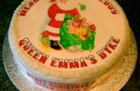 Christmas Cake with Image